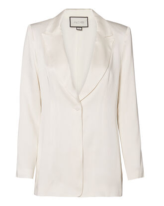 Blac One Button Blazer, IVORY, hi-res