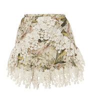 Alice Floral Print Lace Skirt, PRINT, hi-res