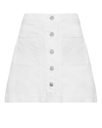 Aaron Braided Denim Mini Skirt, WHITE, hi-res