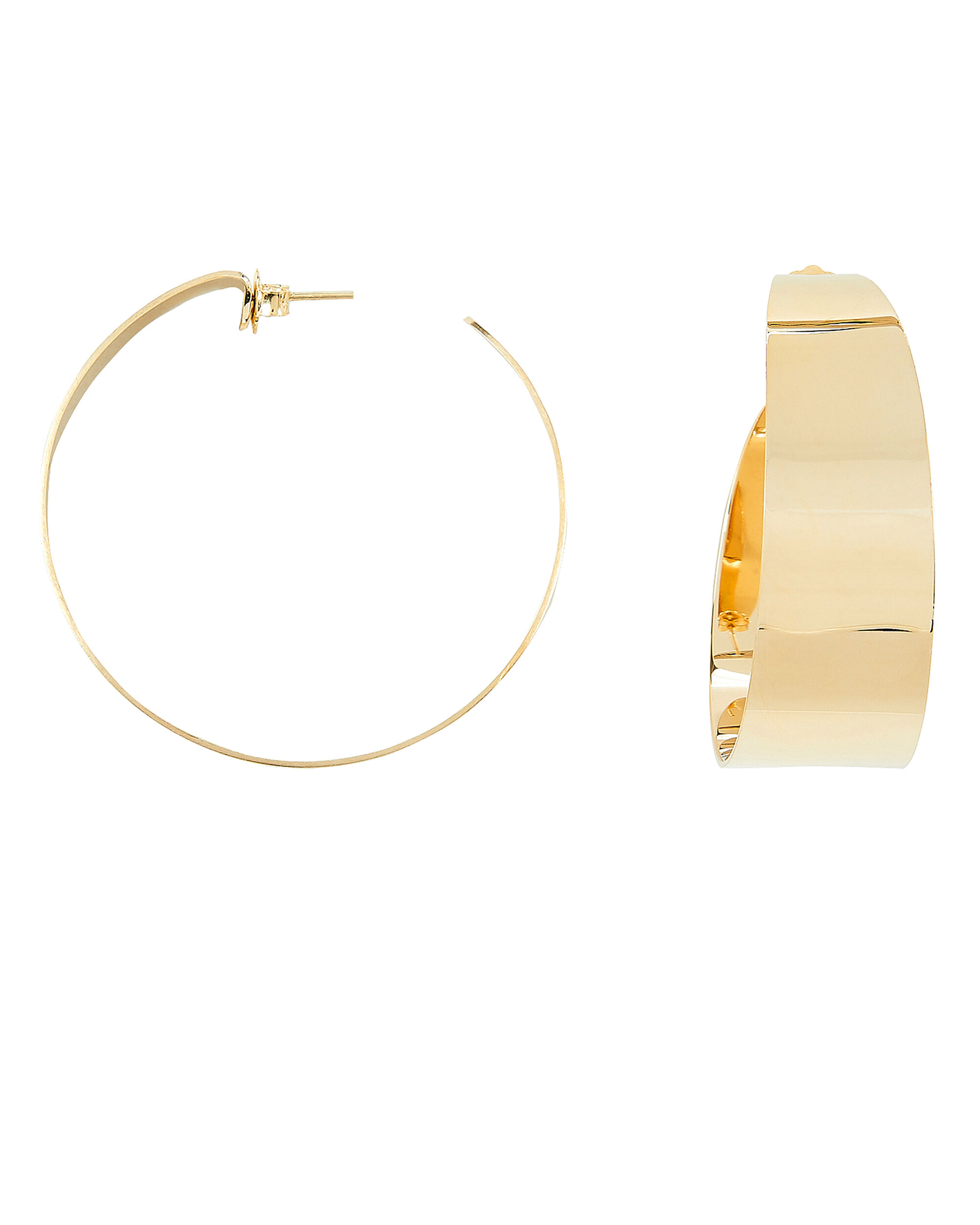 Sandra Hoop Earrings, GOLD, hi-res