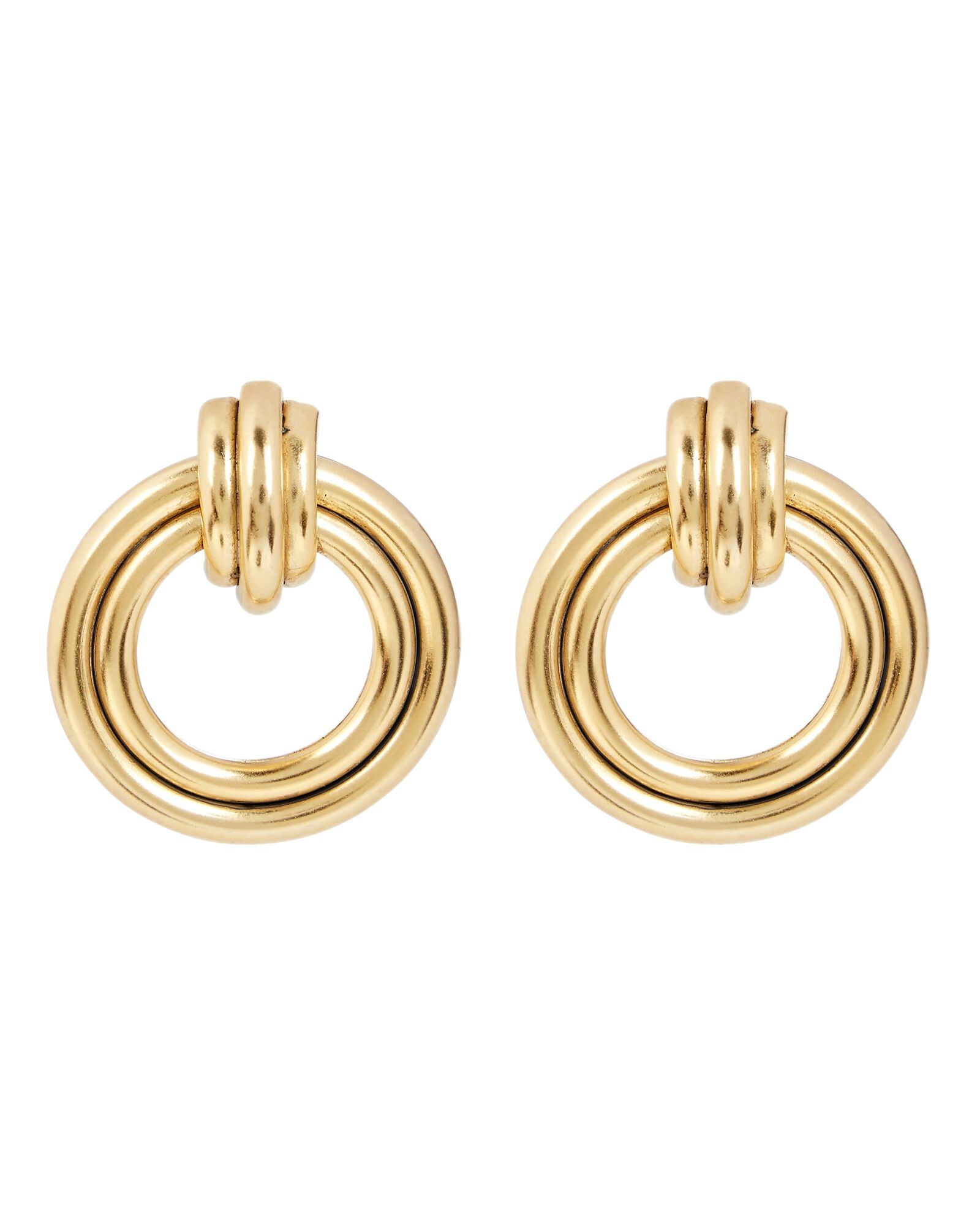 Double Trouble Ring Earrings, GOLD, hi-res