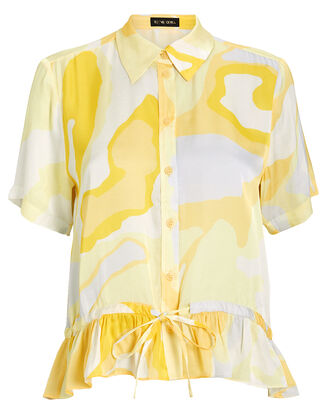 Makayla Altitude Blouse, IVORY/LIGHT YELLOW, hi-res