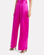 Pink Wide Leg Trousers, PINK, hi-res