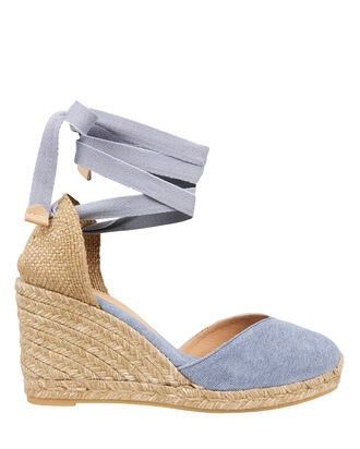 Chiara 80 Espadrille Wedges, DENIM, hi-res