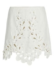 Brightside Rouleaux Mini Skirt, IVORY, hi-res