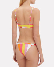 Striped Cheeky Bikini Bottom, YELLOW/PINK/WHITE, hi-res