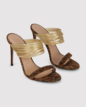 Rendez Vous Leopard Sandals, BROWN, hi-res