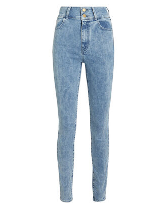 Elsa Saturday Skinny Jeans, FADED BLUE DENIM, hi-res