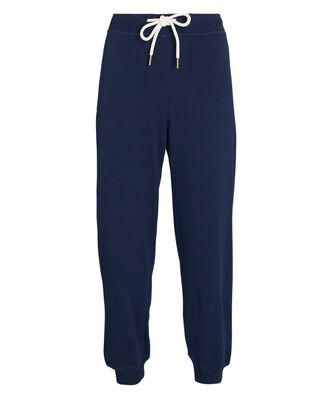 The Cropped Cotton Joggers, NAVY, hi-res