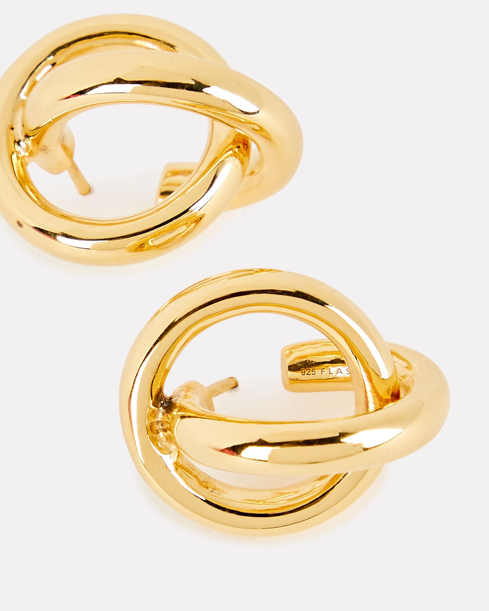 Interlock Knot Hoop Earrings, GOLD, hi-res