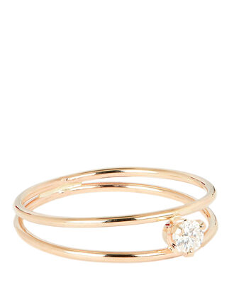 Diamond Open Bands Ring, GOLD, hi-res