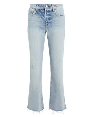 Colette Cropped Kick Flare Jeans, DENIM-LT, hi-res