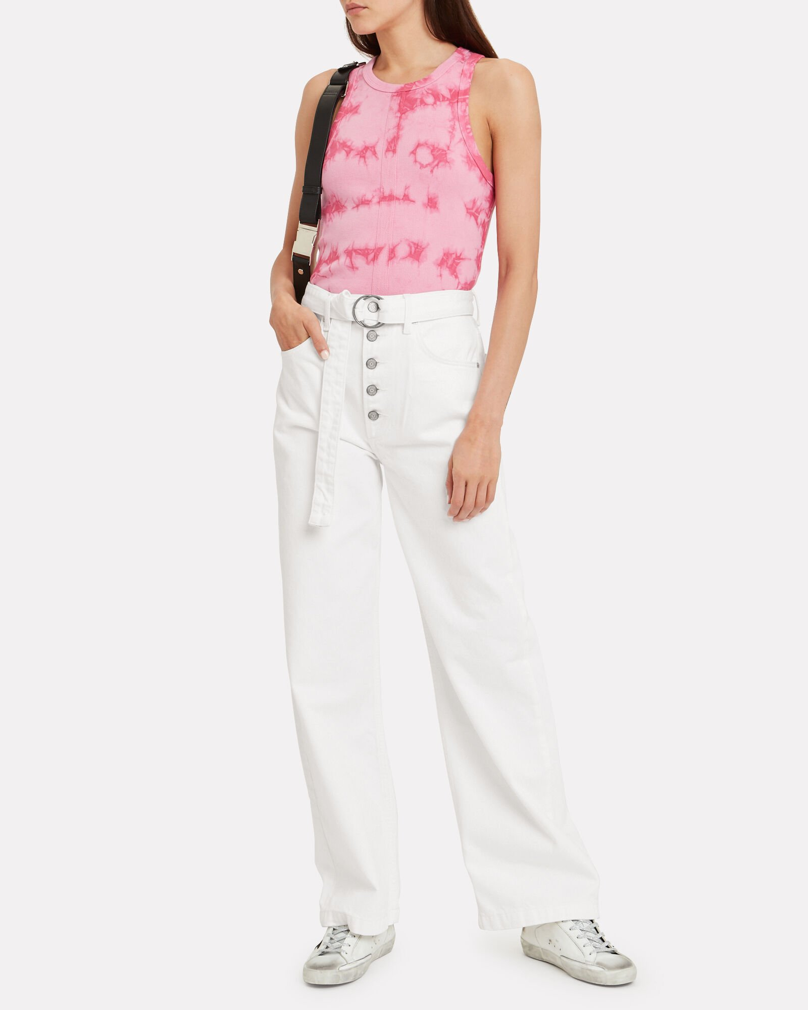The Charley Wide Leg Jeans, WHITE, hi-res