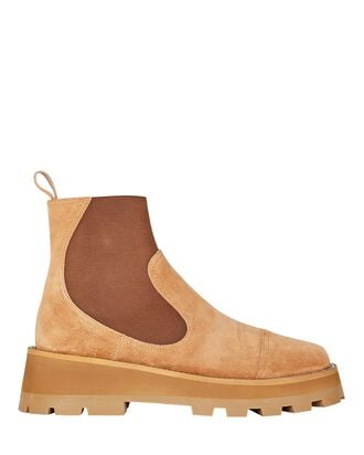 Clayton Suede Lug Sole Ankle Boots, BROWN, hi-res
