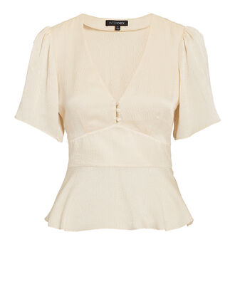 Hanneli Silk Top, IVORY, hi-res