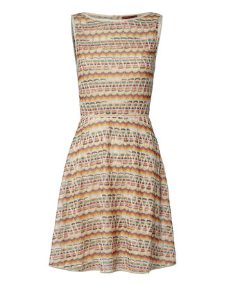 A-Line Lamé Knit Dress, MULTI, hi-res
