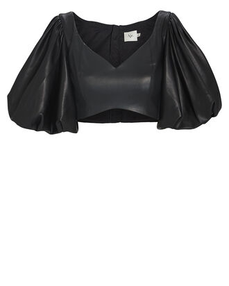 Rebellion Faux Leather Crop Top, , hi-res