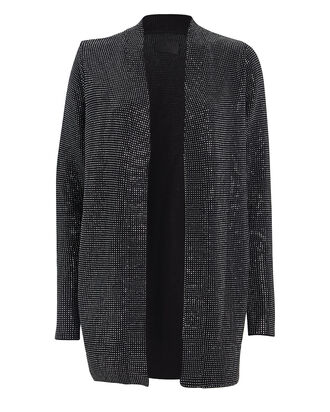 Serge Studded Cotton Cardigan, BLACK, hi-res