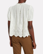 Emmie Eyelet Top, WHITE, hi-res