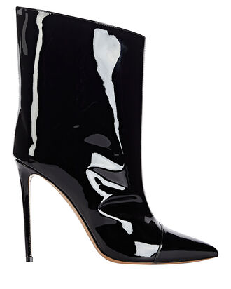 Alex Patent Leather Booties, BLACK, hi-res