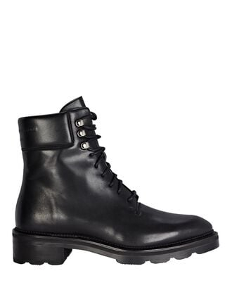 Andy Hiker Leather Ankle Boots, BLACK, hi-res