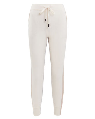 Moss Cashmere Joggers, IVORY/GREY, hi-res