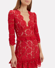 Leo Lace Top, RED, hi-res
