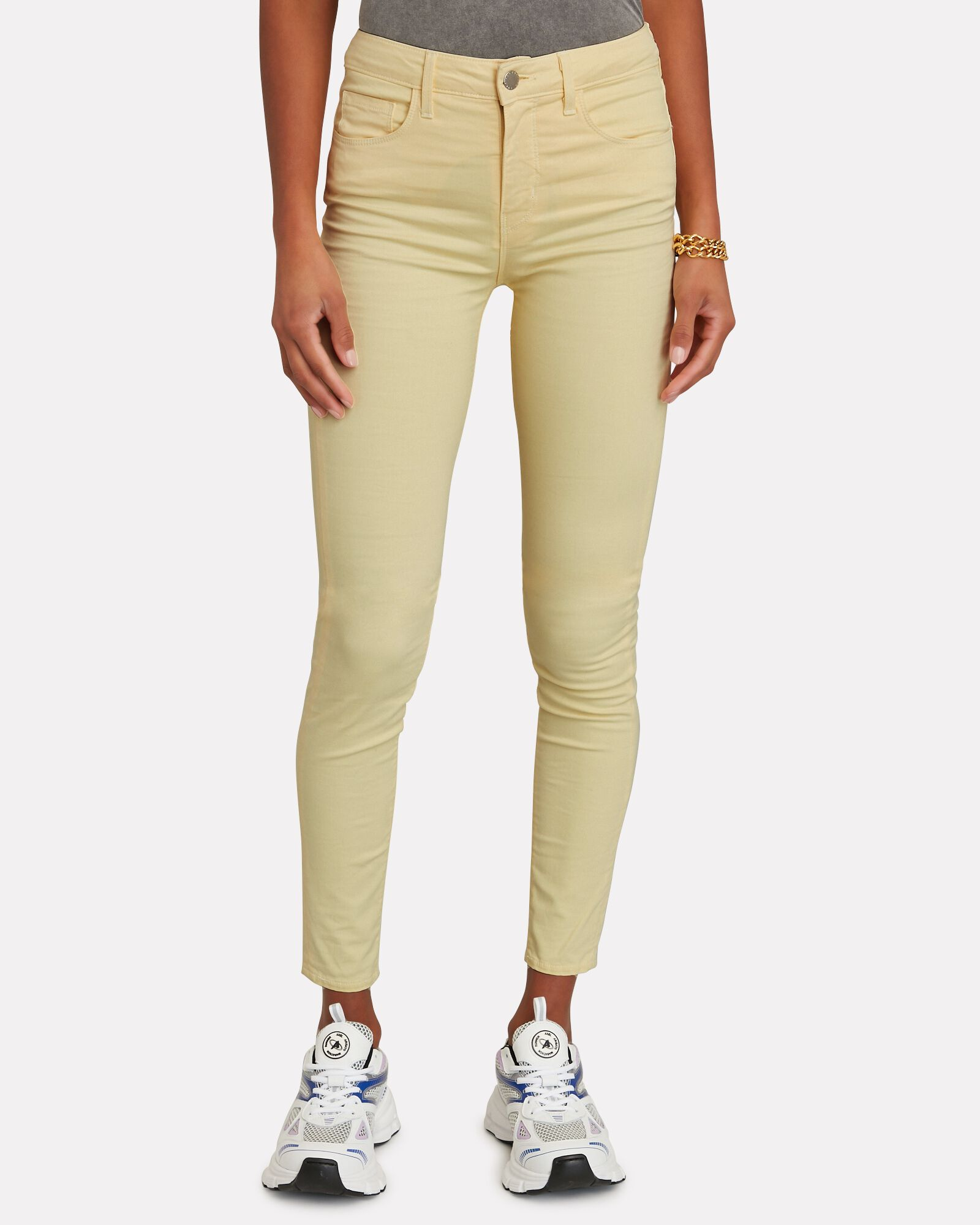 Margot High-Rise Skinny Jeans, BANANA, hi-res