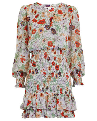 Saera Floral Mini Dress, MULTI, hi-res