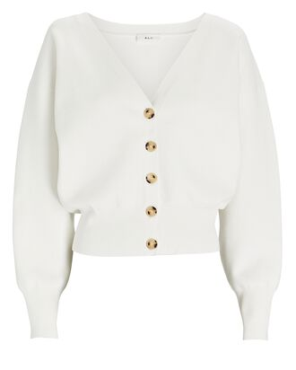 Peters II V-Neck Cardigan, WHITE, hi-res