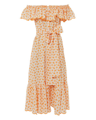 Mira Eyelet Dress, ORANGE, hi-res