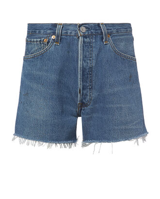 Side Zip Shorts, DENIM, hi-res