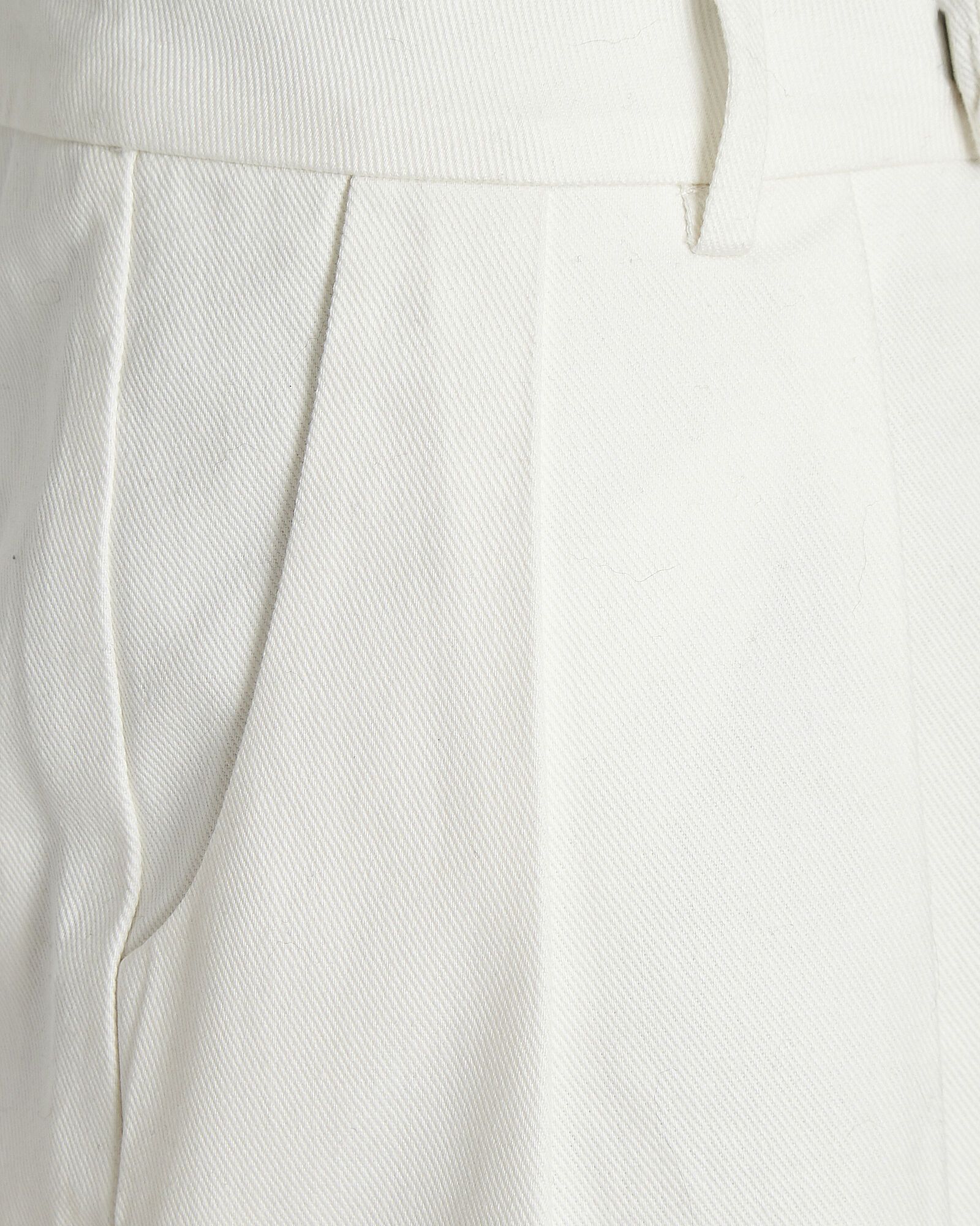 Sabine Pleated Cotton Shorts, WHITE, hi-res