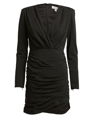 Mariana Draped Mini Dress, BLACK, hi-res