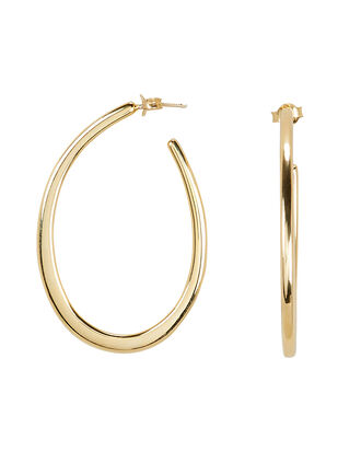 Oval Open Hoops, GOLD, hi-res