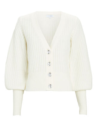 Ella Jewel Button Cardigan, IVORY, hi-res