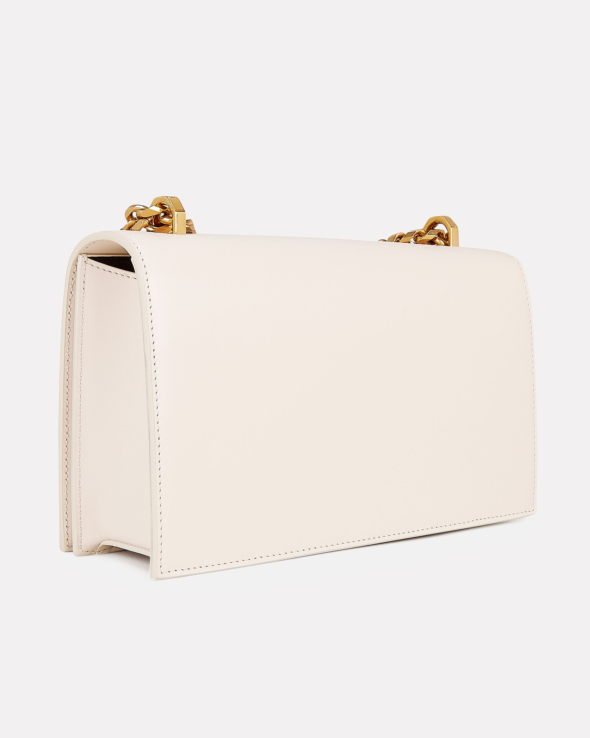 Jewel Knuckle Ivory Chain Strap Shoulder Bag, IVORY LEATHER, hi-res