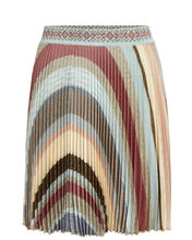 Pleated Lurex Mini Skirt, MULTI, hi-res