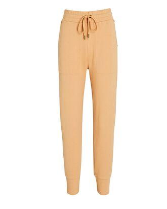 Andrea Cotton-Blend Joggers, BEIGE, hi-res