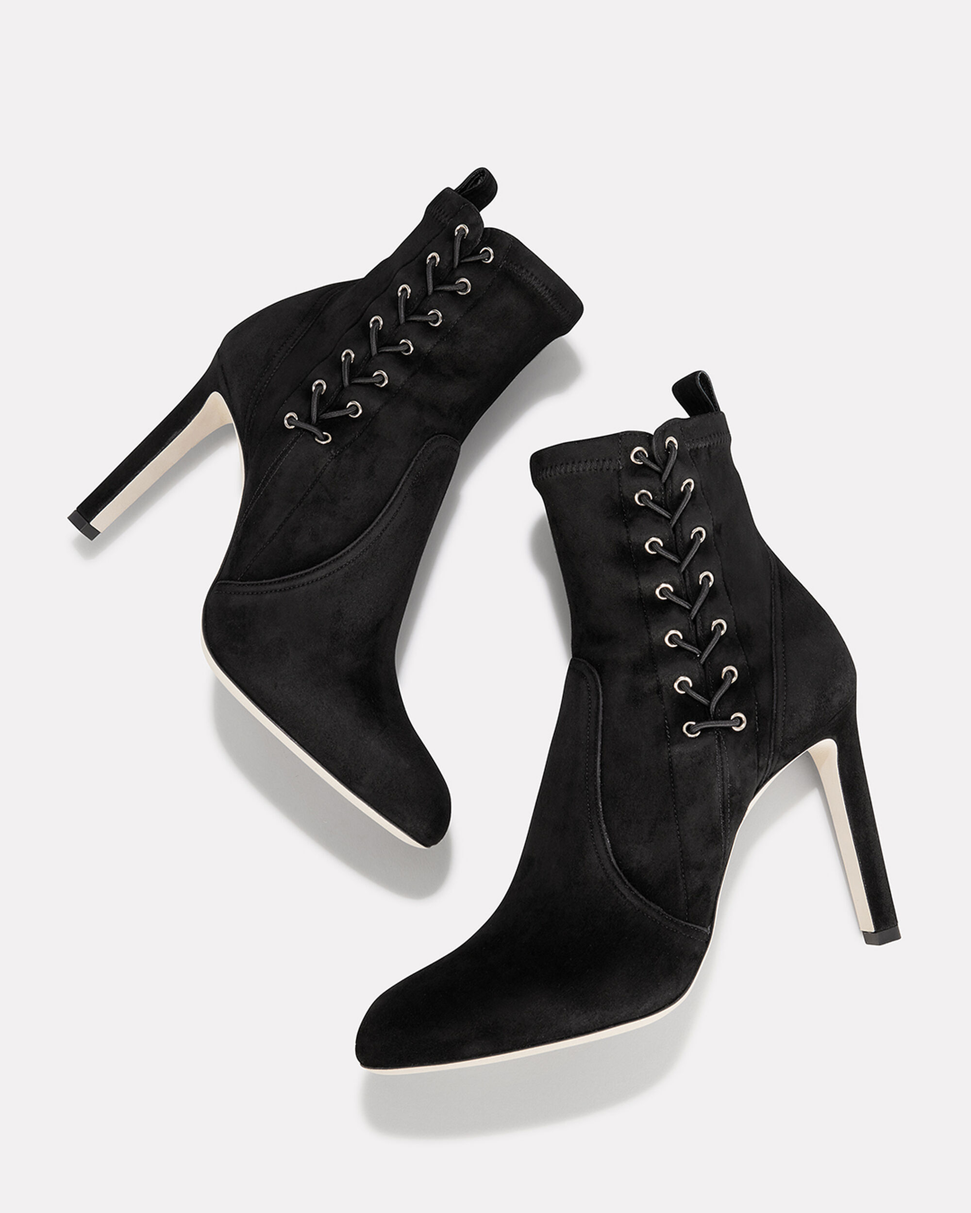 Mallory Lace Side Booties, BLACK, hi-res