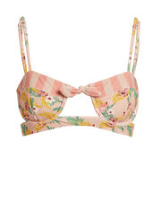 Antigua Knot Bikini Top, PINK/GREEN/YELLOW, hi-res