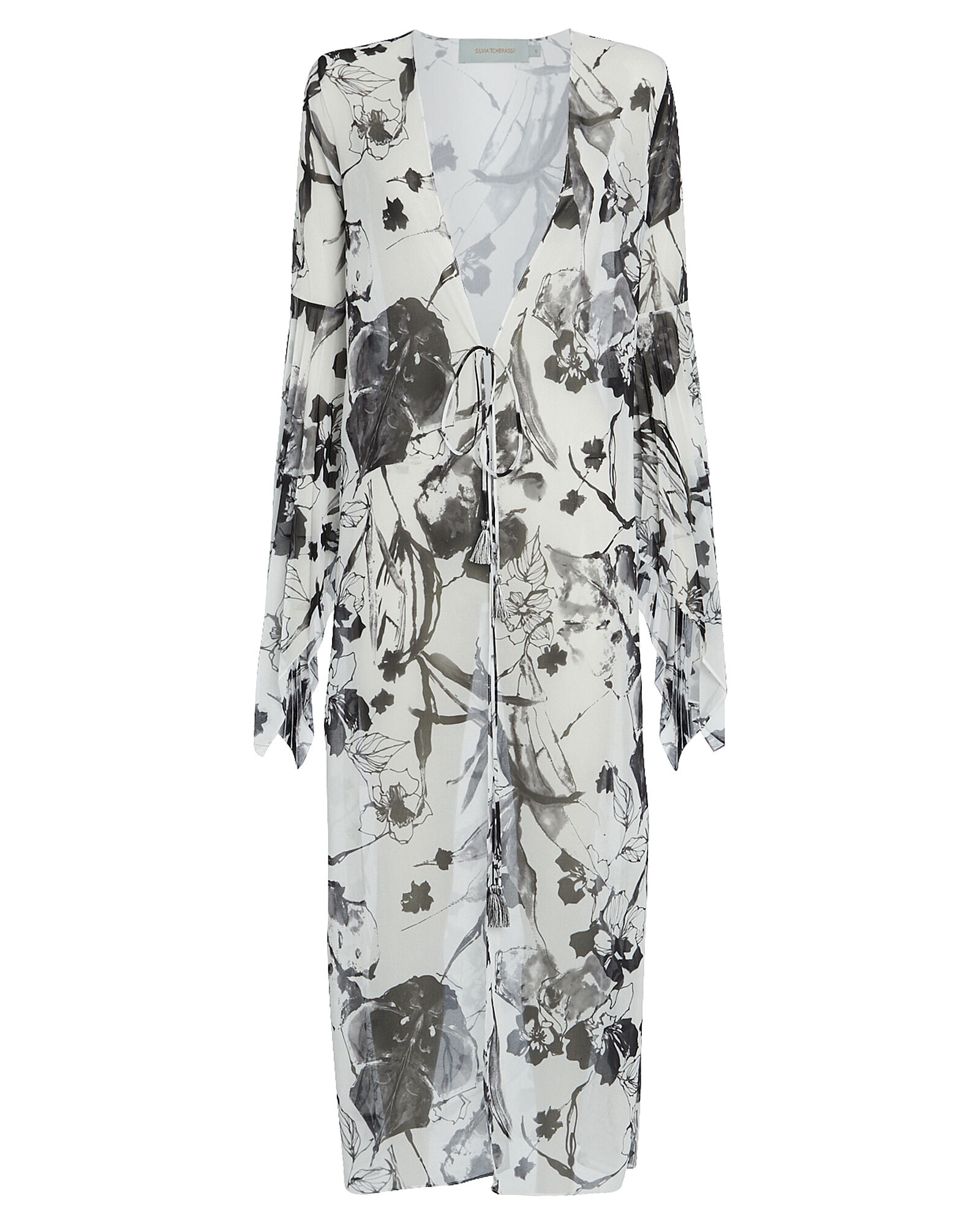 Heliana Floral Tunic, BLK/WHT, hi-res