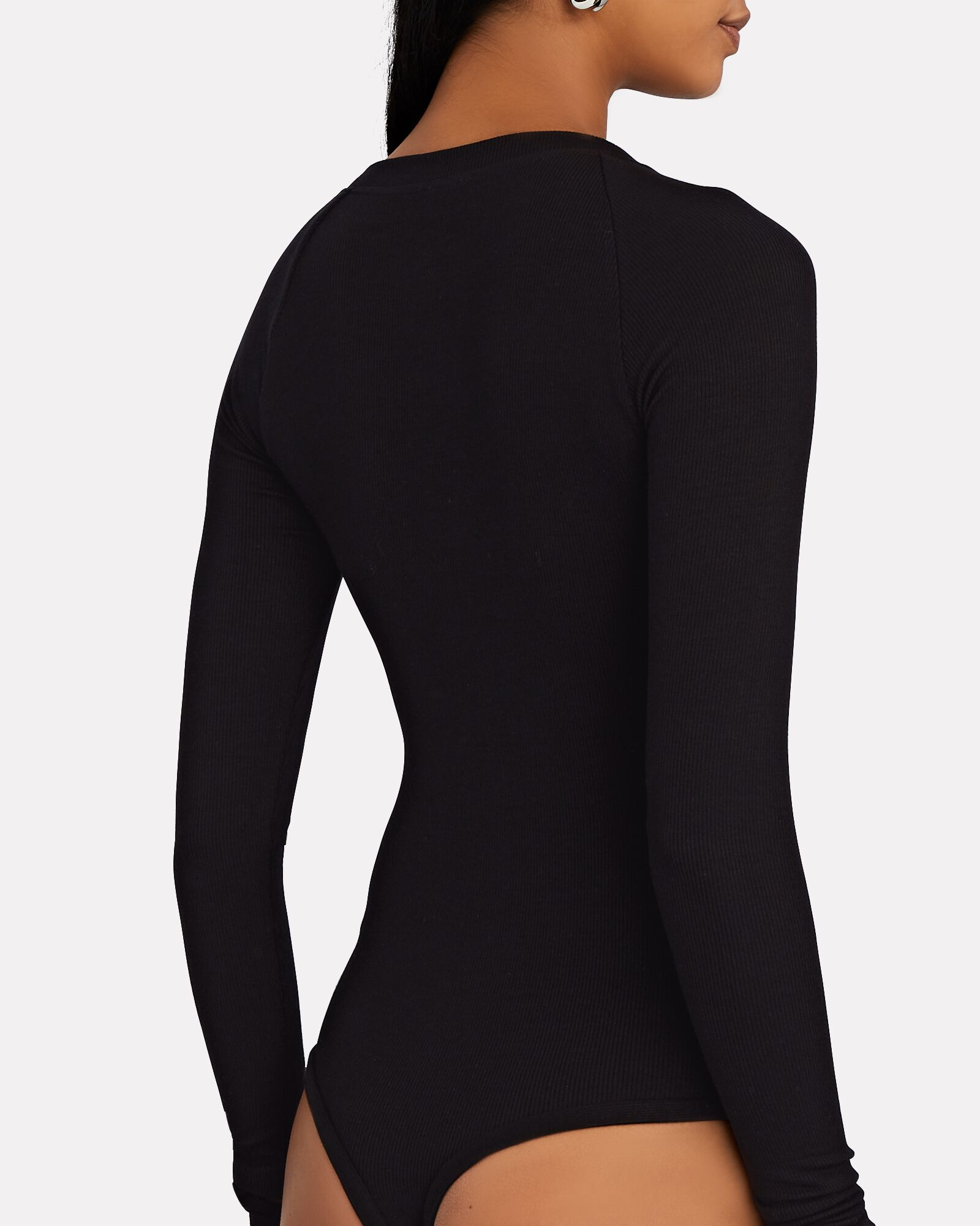 Stratton Asymmetrical Bodysuit, BLACK, hi-res