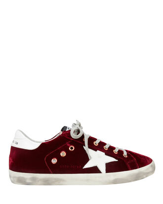 Superstar Red Velvet Low-Top Sneakers, RED-DRK, hi-res