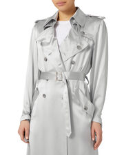 Silver Trench Coat, SILVER, hi-res