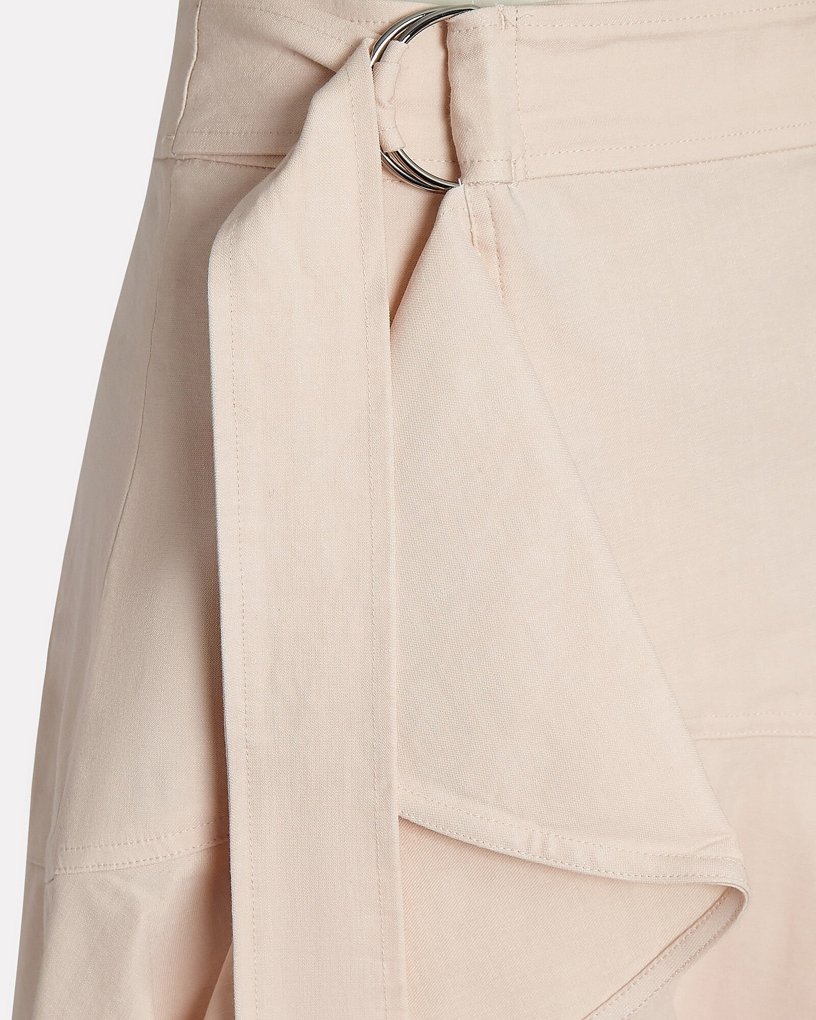 Amalie Ruffled Wrap Skirt, BEIGE, hi-res