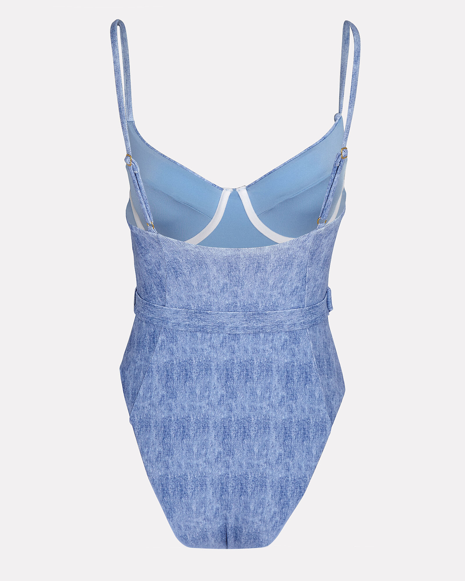 Danielle Belted One-Piece Swimsuit, BLUE-LT, hi-res