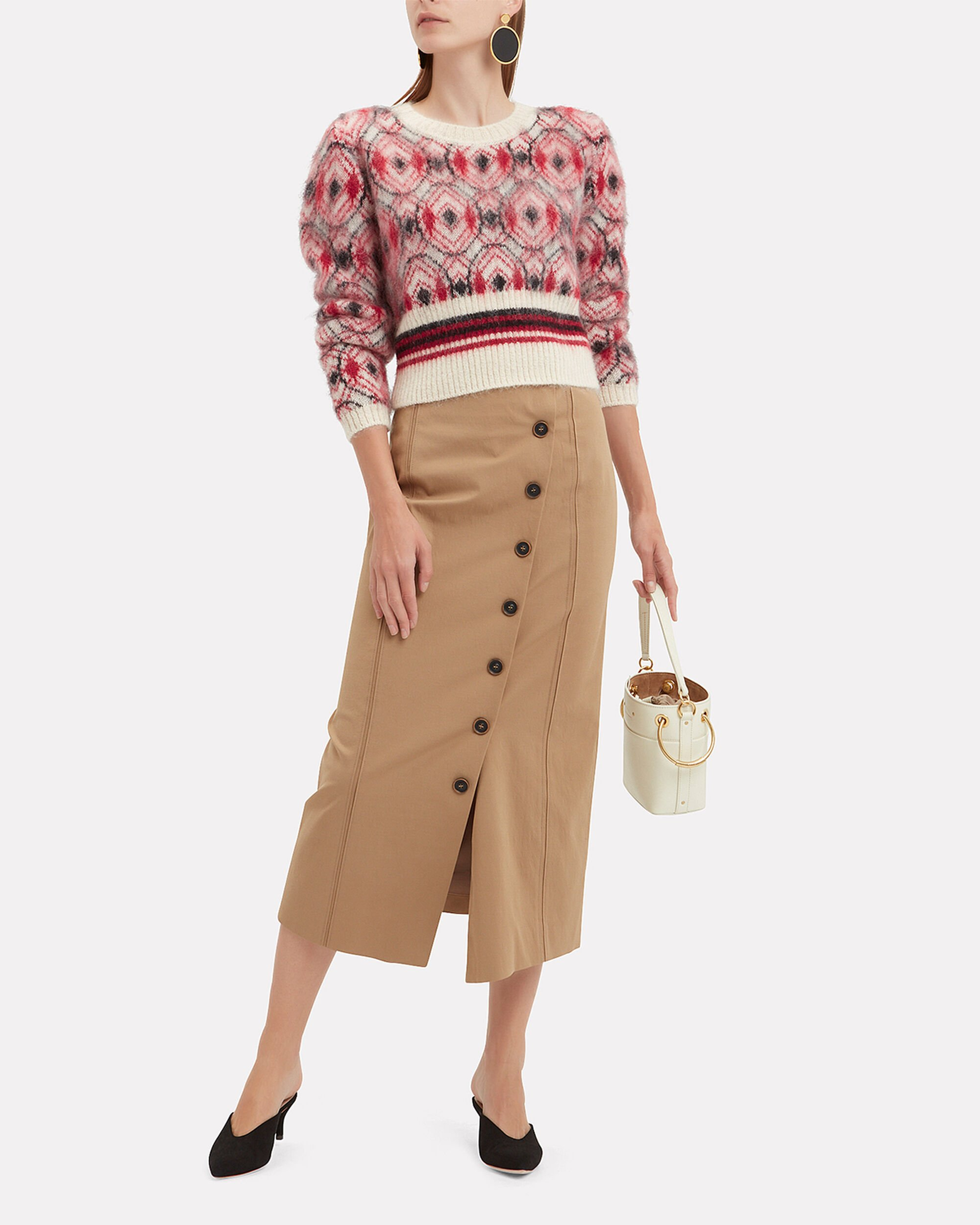 Mohair Cropped Sweater, RED-DRK, hi-res