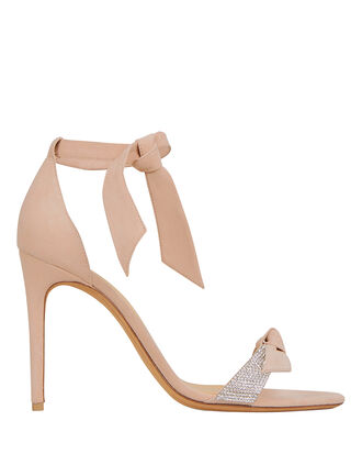 Clarita Double Bow Crystal High Sandals, BLUSH, hi-res