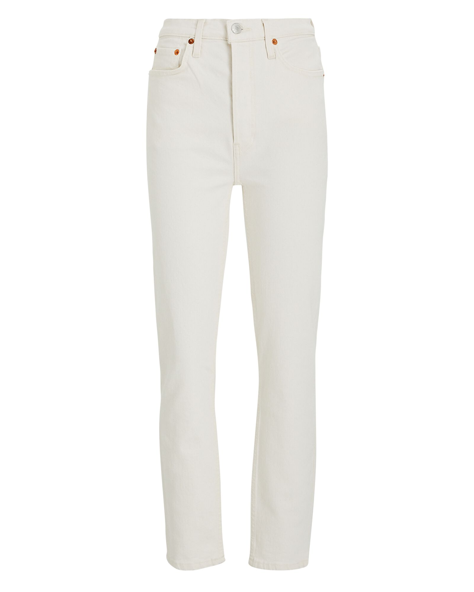 High-Rise Ankle Crop Jeans, VINTAGE WHITE, hi-res